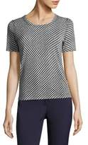 Escada Houndstooth Virgin Wool Tee