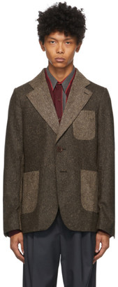 Wales Bonner Brown Two-Tone Judah Jacket