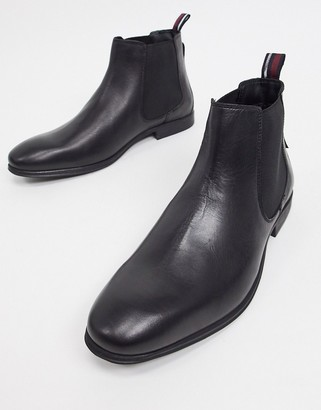 Ben Sherman Chelsea Boots In Black Leather