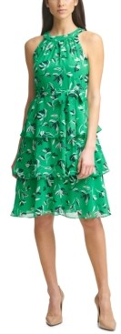 Jessica Howard Petite Tiered A-Line Dress