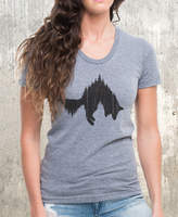 Etsy Fox and Forest T-Shirt - Women's American Apparel TriBlend T-Shirt