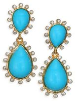 Kenneth Jay Lane Cabochon Clip-On Teardrop Earrings