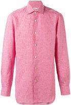 Kiton Gingham check shirt - men - Linen/Flax - 42