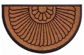 Home & More Shell 2' x 3' Coir/Rubber Doormat Bedding