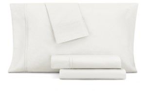 Aq Textiles Double Merrow Embellished 4-Pc Queen Sheet Set, 700 Thread Count Cotton Blend Bedding