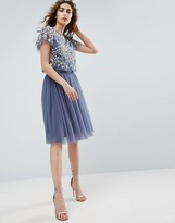 Needle & Thread Needle and Thread Tulle Midi Skirt