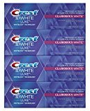 Crest 3D White Luxe Glamorous White Vibrant Whitening Toothpaste, Mint, 4.1 Ounce, Pack of 4