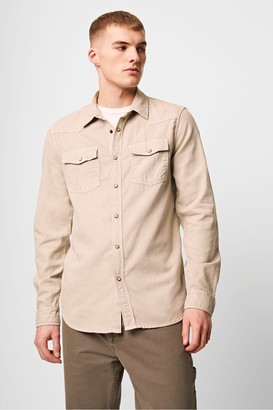 French Connection Garment Dyed Cotton Western Shirt