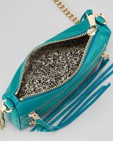 Rebecca Minkoff Five-Zip Mini Crossbody Bag, Azure
