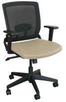 Fermata Operational Mesh Task Chair Marvel Office Furniture Upholstery Color: Flax Fabric and Black Base