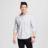 Merona Men's Long Sleeve Print Button Down Shirt White