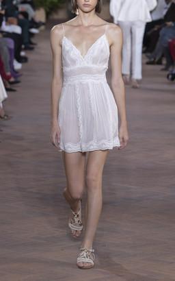Alberta Ferretti Embroidered Chiffon Mini Dress