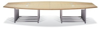 """Woodtech Boat-Shaped Conference Table Woodtech Size: 29"""" H x 96"""" W x 56"""" D"""