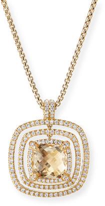 David Yurman Châtelaine Pave Diamond Bezel Enhancer with Champagne Citrine