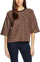 Stefanel Women's Maglia Jacquard Mohair Themal Top