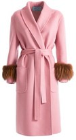 Prada Women's Pink Wool Coat.
