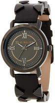 Steve Madden Women&s Arrow Design Genuine Leather Strap Watch