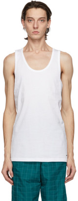 Nike Two-Pack White Cotton Everyday Tank Tops