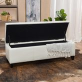 Christopher Knight Home Lucinda Faux Leather Storage Ottoman Bench