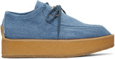 Stella McCartney Blue Denim Platform Derbys