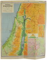 Rejuvenation Mid-Century Denoyer-Geppert Map Book of Modern Palestine c1960s
