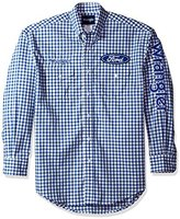 Wrangler Men's Ford Logo Long Sleeve Woven Shirt