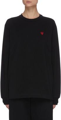 Alexander Wang Heart Embroidered Mock Neck Sweatshirt