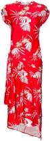 Paco Rabanne Hawaiian print asymmetric midi dress