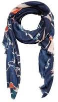 MANGO Animal print scarf