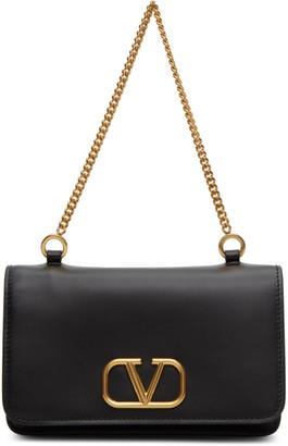 Valentino Black Garavani VLogo Chain Shoulder Bag