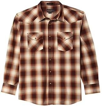 Pendleton Long Sleeve Frontier (Red/Black Plaid) Men's Clothing