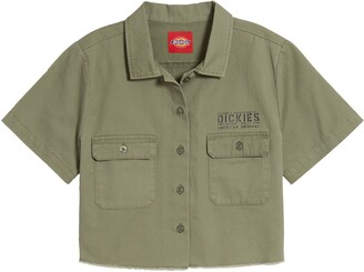Dickies Screen Logo Crop Work Shirt