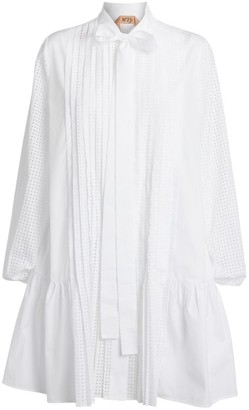 No.21 N21 Cotton Poplin Pussybow Dress