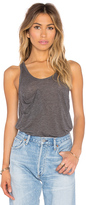 Bobi Tissue Jersey Scoop Neck Front Pocket Tank