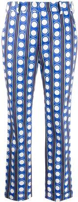 La DoubleJ x Mantero geometric slim-fit trousers
