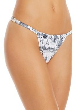 WeWoreWhat Ruched Bikini Bottom