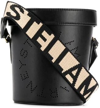 Stella McCartney perforated logo bucket bag