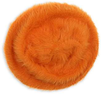 Etereo Fuzzy Faux Fur Beret