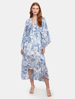 MISA Los Angeles Shadi Kimono Sleeve Chiffon Midi Dress