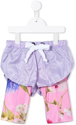 Natasha Zinko Kids Floral-Print Trouser-Shorts