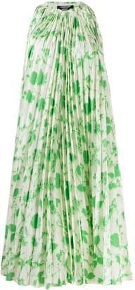 Calvin Klein floral-print pleated dress