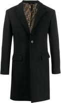 Fendi printed FF lining coat