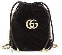 Gucci Women's GG Marmont 2.0 Velvet Mini Bucket Bag