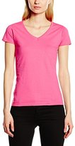 Fruit of the Loom Women's Lady Fit Valueweight V-Neck T