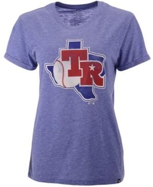 '47 Women's Texas Rangers Throwback Match Tri-Blend Hero T-Shirt
