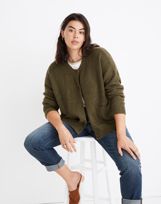 Madewell Colburne Cardigan Sweater in Coziest Textured Yarn