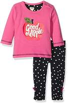 Hatley Baby-Girls Tee and Legging Infant Clothing Set, Pink, 6-12 Months
