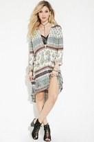 Forever 21 FOREVER 21+ Raga Paisley Print Shirt Dress