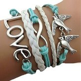 Sankuwen® Handmade Love Anchor Pigeon Multilayer Bracelet Wristband