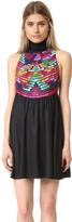 Mara Hoffman Embroidered High Neck Dress